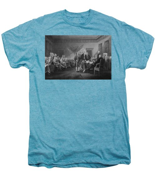 Signing The Declaration Of Independence Men's Premium T-Shirt by War Is Hell Store