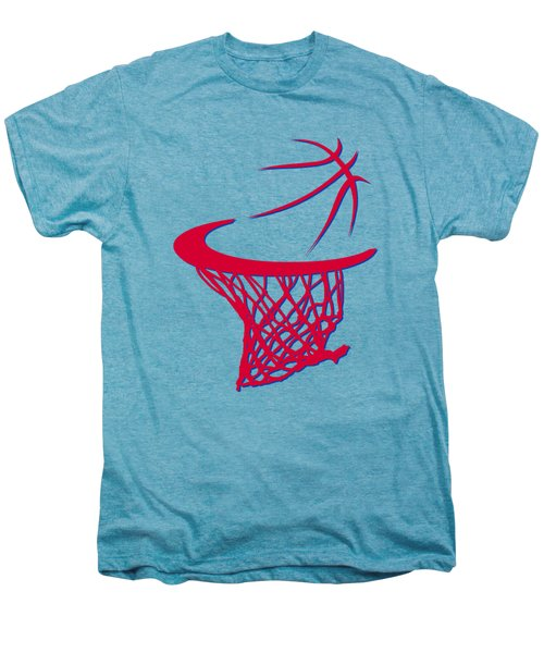 Sixers Basketball Hoop Men's Premium T-Shirt by Joe Hamilton