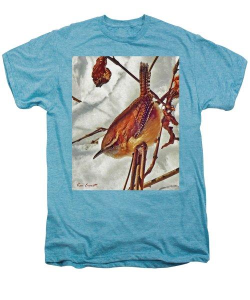 Slim Pickens, Carolina Wren Men's Premium T-Shirt by Ken Everett