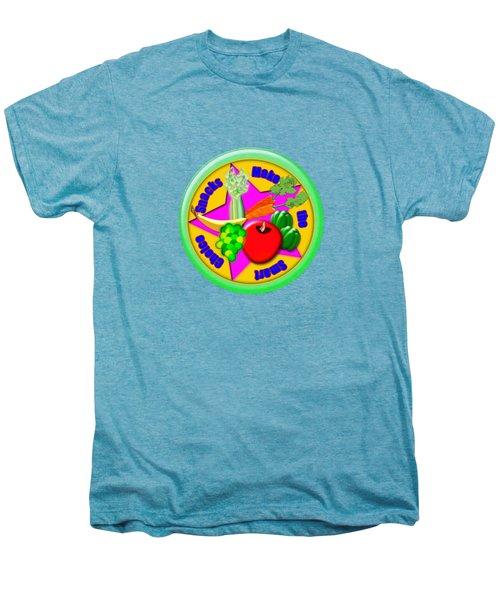 Smart Snacks Men's Premium T-Shirt by Linda Lindall