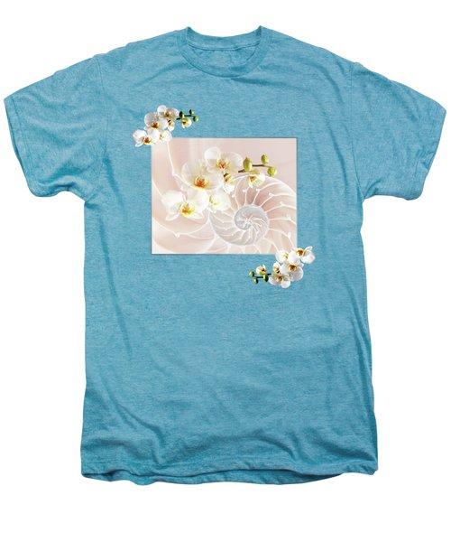 Soft Pink Fusion Men's Premium T-Shirt by Gill Billington