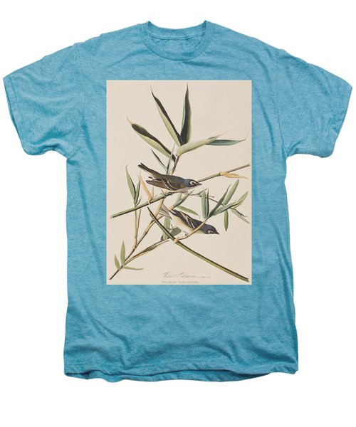 Solitary Flycatcher Or Vireo Men's Premium T-Shirt by John James Audubon