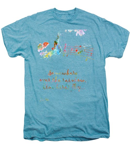Somewhere Over The Rainbow Men's Premium T-Shirt by Nikki Smith