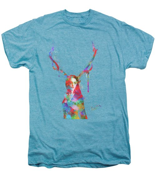 Song Of Elen Of The Ways Antlered Goddess Men's Premium T-Shirt by Nikki Marie Smith