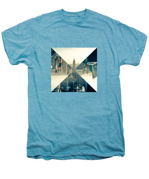 Split Skyline Ny Men's Premium T-Shirt by Jamie Kingswood