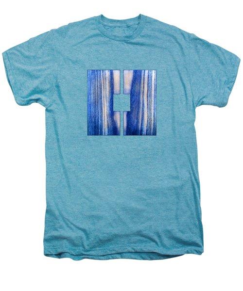 Split Square Blue Men's Premium T-Shirt by YoPedro