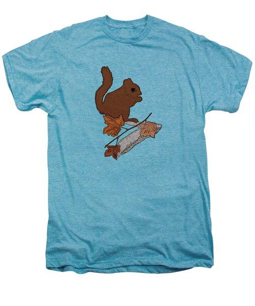 Squirrel Men's Premium T-Shirt by Priscilla Wolfe