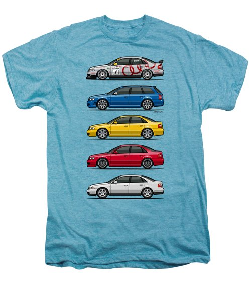 Stack Of Audi A4 B5 Type 8d Men's Premium T-Shirt by Monkey Crisis On Mars