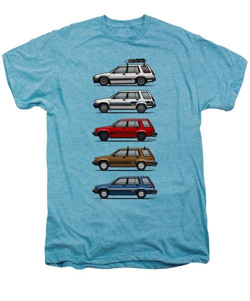 Stack Of Toyota Tercel Sr5 4wd Al25 Wagons Men's Premium T-Shirt by Monkey Crisis On Mars