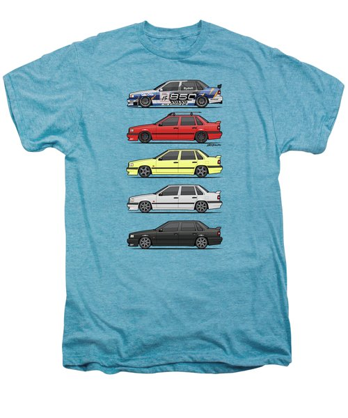 Stack Of Volvo 850r 854r T5 Turbo Saloon Sedans Men's Premium T-Shirt by Monkey Crisis On Mars