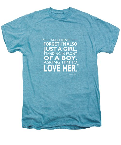 Standing In Front Of A Boy Men's Premium T-Shirt by Mark Rogan