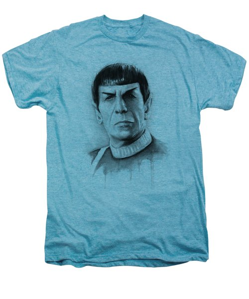 Star Trek Spock Portrait Men's Premium T-Shirt by Olga Shvartsur