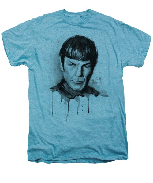 Star Trek Spock Portrait Sci-fi Art Men's Premium T-Shirt by Olga Shvartsur