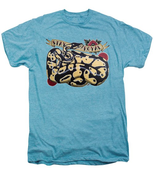 Stay Royal Ball Python Men's Premium T-Shirt by Donovan Winterberg