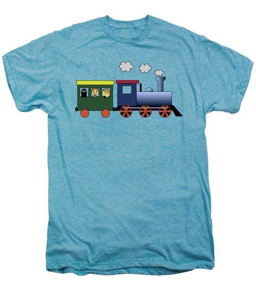 Steam Train Men's Premium T-Shirt by Miroslav Nemecek