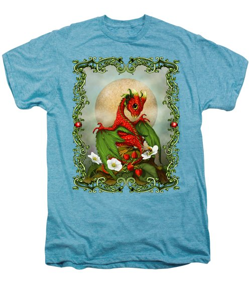 Strawberry Dragon T-shirt Men's Premium T-Shirt by Stanley Morrison
