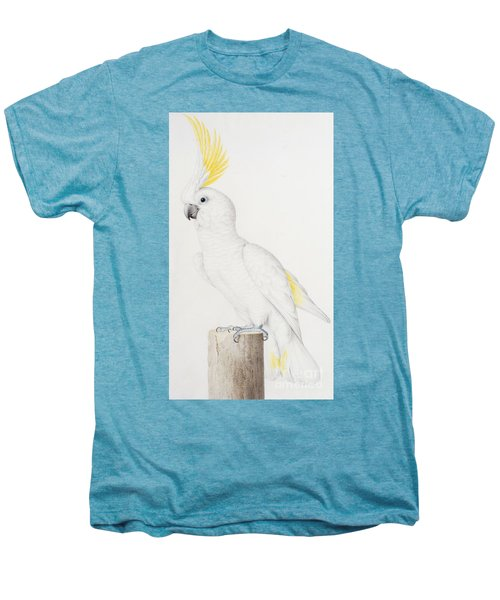 Sulphur Crested Cockatoo Men's Premium T-Shirt by Nicolas Robert