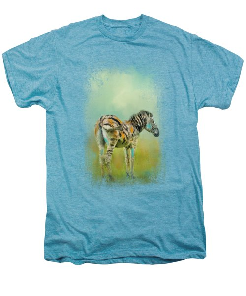 Summer Zebra 1 Men's Premium T-Shirt by Jai Johnson