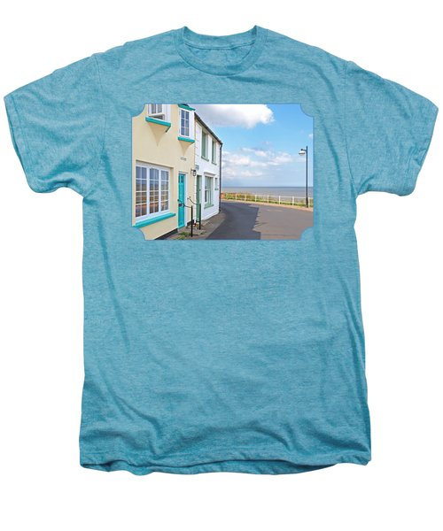 Sunny Outlook - Southwold Seafront Men's Premium T-Shirt by Gill Billington
