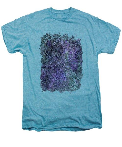 Swan Dance Berry Blues 3 Dimensional Men's Premium T-Shirt by Di Designs