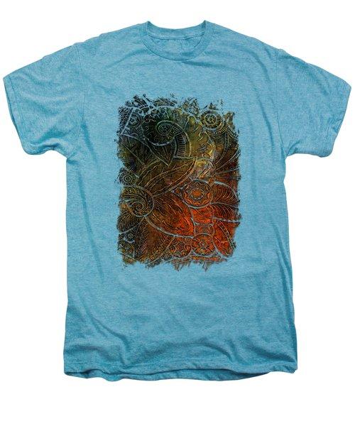Swan Dance Earthy Rainbow 3 Dimensional Men's Premium T-Shirt by Di Designs