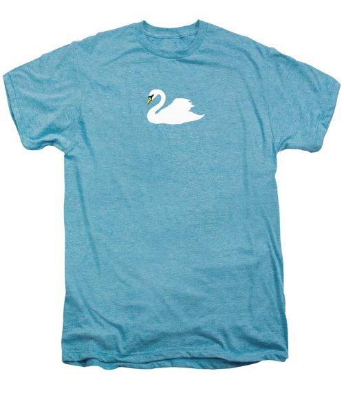 Swan Spring Men's Premium T-Shirt by Priscilla Wolfe