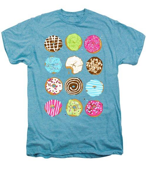 Sweet Donuts Men's Premium T-Shirt by Evgenia Chuvardina