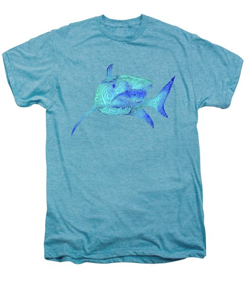 Swirly Shark Men's Premium T-Shirt by Carolina Matthes
