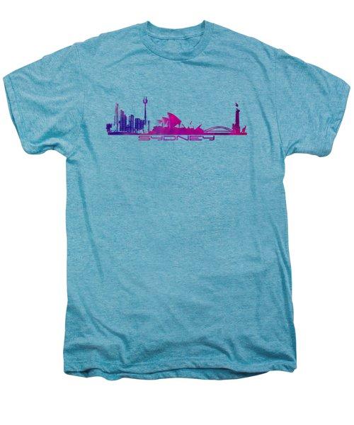 Sydney Skyline Purple Men's Premium T-Shirt by Justyna JBJart