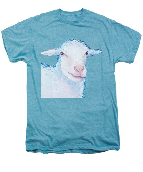 T-shirt With Sheep Design Men's Premium T-Shirt by Jan Matson