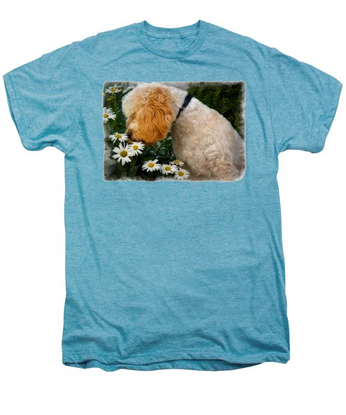 Taking Time To Smell The Flowers Men's Premium T-Shirt by Susan Candelario
