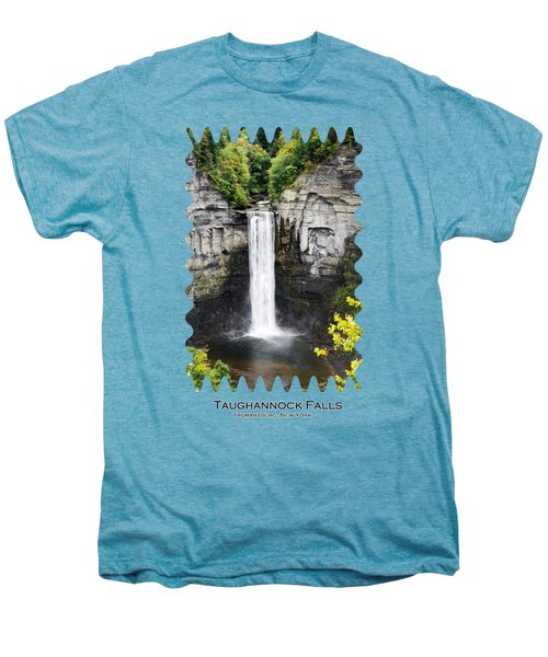 Taughannock Falls View From The Top Men's Premium T-Shirt by Christina Rollo