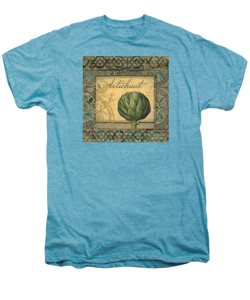 Tavolo, Italian Table, Artichoke Men's Premium T-Shirt by Mindy Sommers
