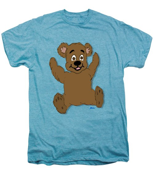 Teddy's First Portrait Men's Premium T-Shirt by Pharris Art