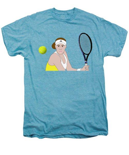 Tennis Ball Focus Men's Premium T-Shirt by Priscilla Wolfe