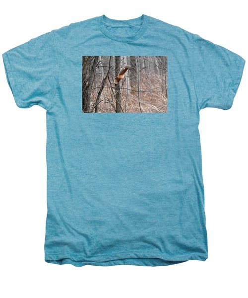 The American Woodcock In-flight Men's Premium T-Shirt by Asbed Iskedjian