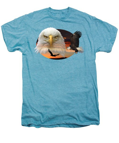 The Bald Eagle 2 Men's Premium T-Shirt by Shane Bechler