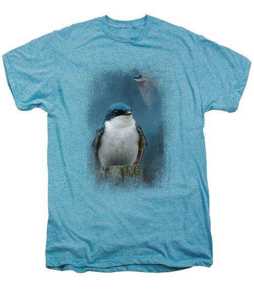 The Beautiful Tree Swallow Men's Premium T-Shirt by Jai Johnson
