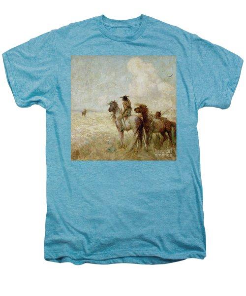 The Bison Hunters Men's Premium T-Shirt by Nathaniel Hughes John Baird