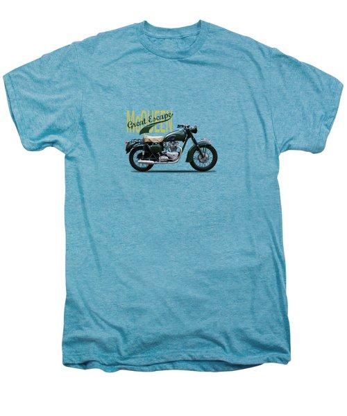 The Great Escape Motorcycle Men's Premium T-Shirt by Mark Rogan