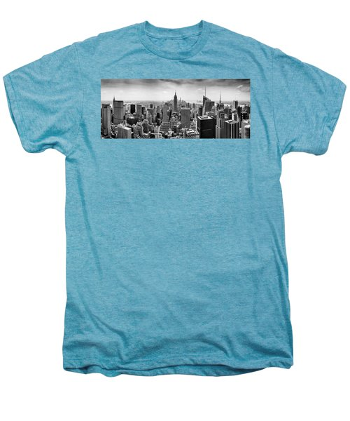 New York City Skyline Bw Men's Premium T-Shirt by Az Jackson
