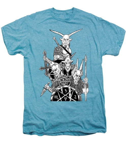 The Infernal Army White Version Men's Premium T-Shirt by Alaric Barca