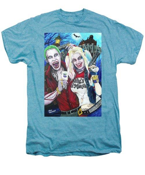 The Joker And Harley Quinn Men's Premium T-Shirt by Michael Vanderhoof