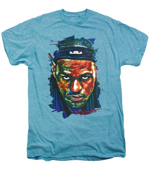 The Lebron Death Stare Men's Premium T-Shirt by Maria Arango