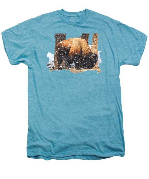 The Majestic Bison Men's Premium T-Shirt by Image Takers Photography LLC - Carol Haddon