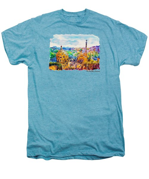 Park Guell Barcelona Men's Premium T-Shirt by Marian Voicu
