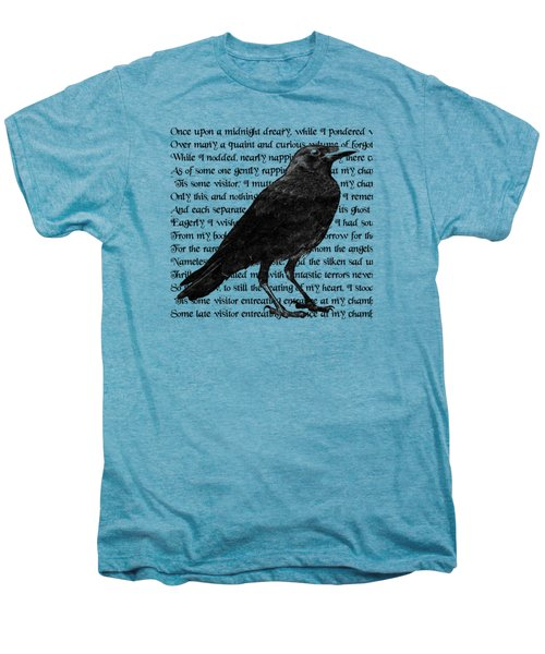 The Raven Poem Art Print Men's Premium T-Shirt by Sandra McGinley