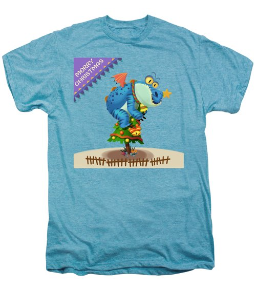 The Sloth Dragon Monster Comes To Wish You Merry Christmas Men's Premium T-Shirt by Next Mars