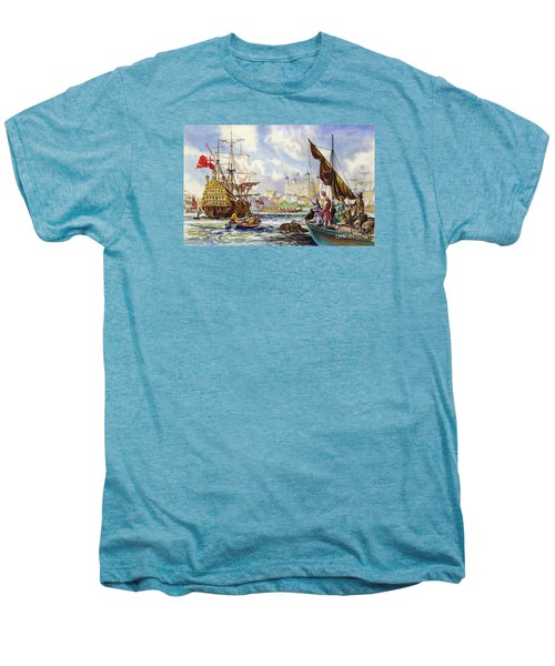 The Tower Of London In The Late 17th Century  Men's Premium T-Shirt by English School