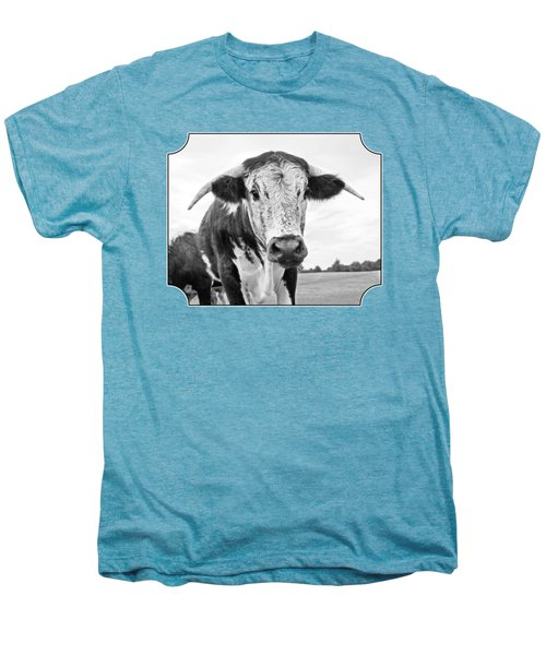 This Is My Field - Black And White Men's Premium T-Shirt by Gill Billington
